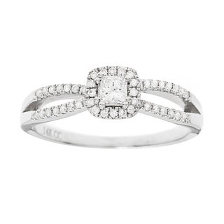 14K White Gold 1/2ct TDW Princess Diamond Engagement Ring (G-H, I1)