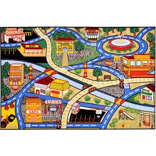 Children's City Streets Design Multicolor Area Rug (3'3 x 5')