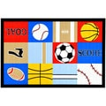 Children's Sports Design Multicolor Area Rug (5' x 6'6)