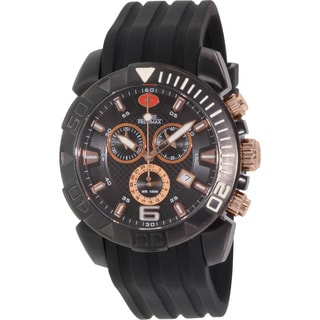 Swiss Precimax Men's Recon Pro Sport Black Dial Water-resistant Swiss Chronograph Watch