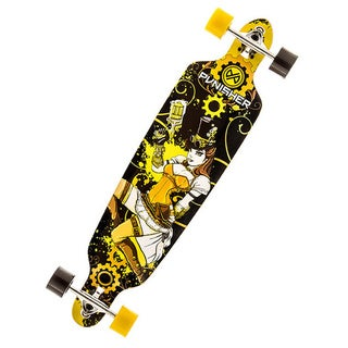 Punisher Skateboards Steampunk 40-inch Canadian Maple Longboard with Concaved Deck