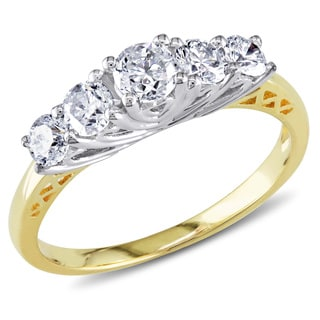 Miadora 14k Two-tone Gold 1ct TDW Diamond Ring (G-H, I1-I2)
