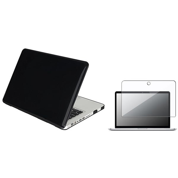 INSTEN Black Laptop Case Cover/ Screen Protector for Apple MacBook Pro 13.-inch