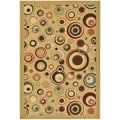 Beige Contemporary Dazzle Design Non-skid Area Rug (3'3 x 5')