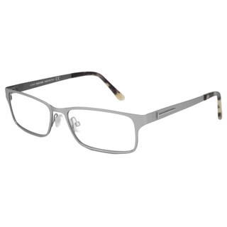 Tom Ford Readers Men's TF5243 Silver Rectangular Reading Glasses