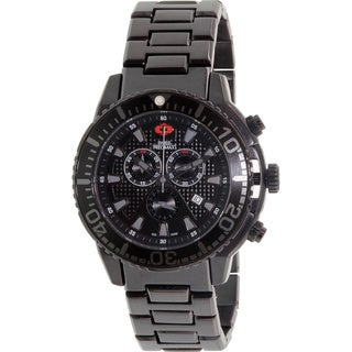 Swiss Precimax Men's Pulse Pro Stainless Steel Chronograph Watch with Black Hands