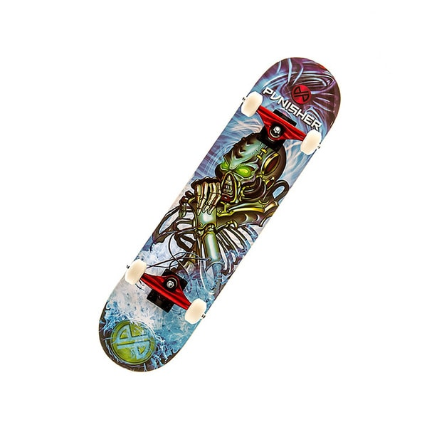 Punisher Skateboards Alien Rage 31-inch Skateboard with Concave Deck