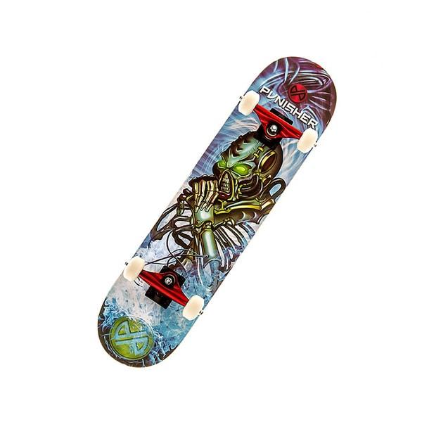 Punisher Skateboards Alien Rage 31-inch Skateboard with Concave Deck