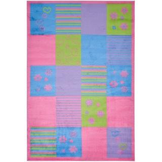 Multi Color Contemporary Patchwork Design Area Rug (3'3 x 5')