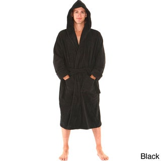 Del Rossa Men's Thick Hooded Terry Cotton Bath Robe