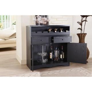 Furniture Of America Transitional Black Multi Shelf Bar Buffet Unit Overstock Shopping Big