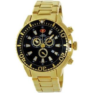 Swiss Precimax Men's Goldtone Stainless Steel Chronograph Watch