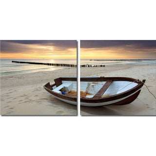Baxton Studio Fisherman's Respite Mounted Photography Print Diptych