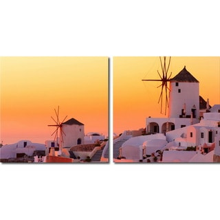 Baxton Studio Grecian Crossroads Mounted Photography Print Diptych