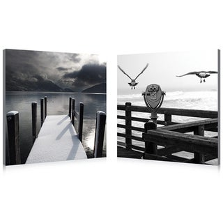 Baxton Studio Lake Lookout Mounted Photography Print Diptych