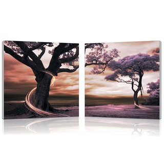 Baxton Studio Lilac Enchantment Mounted Photography Print Diptych