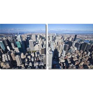 Baxton Studio Manhattan Mounted Photography Print Diptych