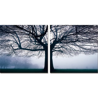 Baxton Studio Morning Haze Mounted Photography Print Diptych