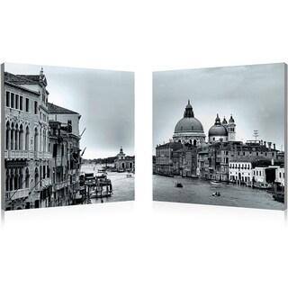 Baxton Studio Timeless Venice Mounted Photography Print Diptych