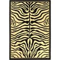 Paterson Zebra Animal Print Black Area Rug (8'2 x 9'10)
