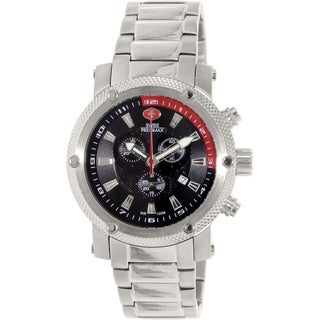 Swiss Precimax Men's Volt Pro Stainless Steel Black Dial Chronograph Watch