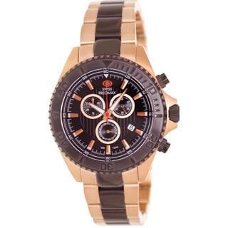 Swiss Precimax Men's Maritime Pro Two-tone Stainless Steel Black Dial Chronograph Watch
