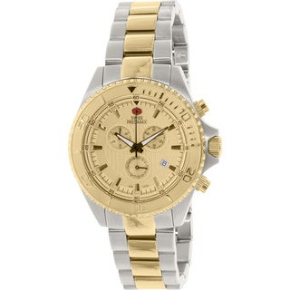 Swiss Precimax Men's Maritime Pro Two-tone Stainless Steel Goldtone Dial Chronograph Watch