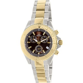 Swiss Precimax Women's Manhattan Elite Two-tone Stainless Steel Mother-Of-Pearl Dial Chronograph Watch
