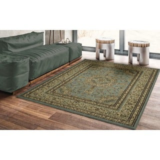 Oriental Medallion Dark Red Area Rug (5'3 x 7')