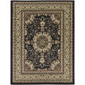 Oriental Medallion Black Area Rug (3'11 x 5'3)
