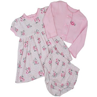 Vitamins Baby Girls Jumper Set in Pink Rose