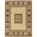 European Design Beige Area Rug (5'3 x 7')