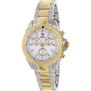 Swiss Precimax Women's Manhattan Elite Two-tone Stainless Steel Mother of Pearl Dial Chronograph Watch