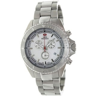 Swiss Precimax Men's Maritime Pro Silver Stainless Steel Chronograph Watch