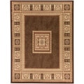 "Brown Traditional European Area Rug (3'11""X5'3"")"