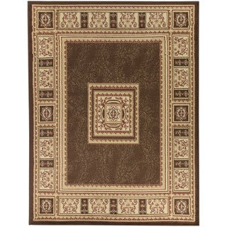European Design Brown Area Rug (7'10 x 9'10)