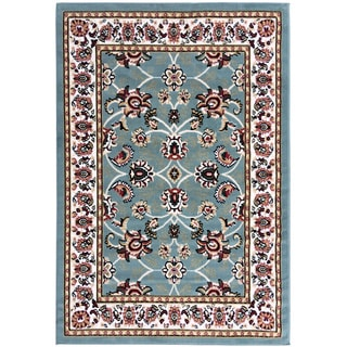 Dark Red Traditional Oriental Area Rug (8'2 x 9'10)