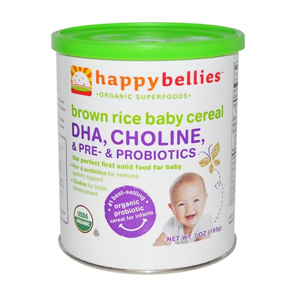 Happy Bellies Brown Rice Baby Cereal (Pack of 3)