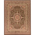 "Brown Traditional Medallion Area Rug (7'10""x9'10"")"