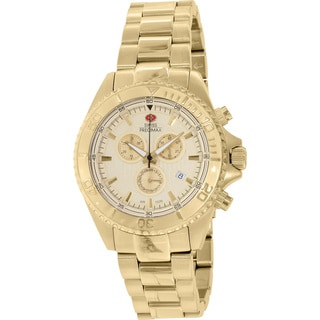 Swiss Precimax Men's Maritime Pro Goldtone Stainless Steel Chronograph Watch