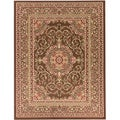 Oriental Medallion Brown Area Rug (5'3 x 7')