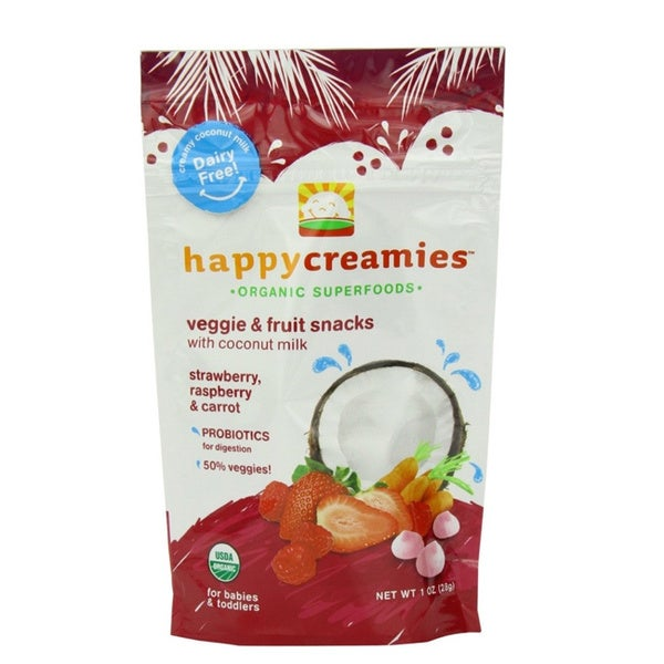 Happy Baby Creamies Fruit and Veggie Snack (Pack of 16)