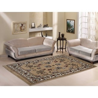 "Gold Traditional Oriental Design Area Rug (8'2""X9'10"")"
