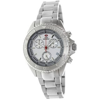 Swiss Precimax Women's Manhattan Elite Stainless Steel Chronograph Watch