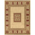 Beige European Design Area Rug (3'11 x 5'3)