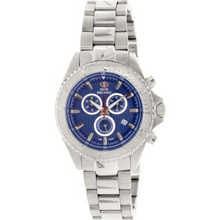 Swiss Precimax Men's Maritime Pro Stainless Steel Blue Dial Chronograph Watch