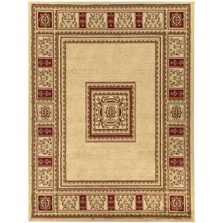 Beige European Design Area Rug (7'10 x 9'10)