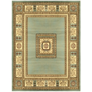 European Border Sage Blue Area Rug (3'11 x 5'3)