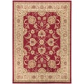 Traditional Oriental Design Dark Red Area Rug (3'11 x 5'3)