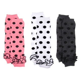 Polka Dot Baby Leg Warmers (Set of 3)